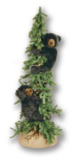 60 Alpine Frolic Ditz Pre Lit Christmas Tree 2 Black Bears