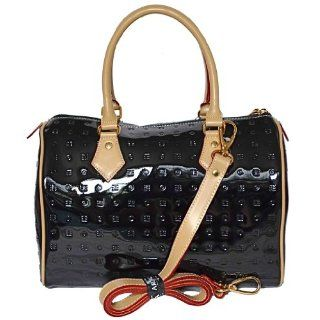 Arcadia Italian Patent Embossed Leather Purse Handbag