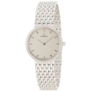 Eterna Watches Womens 5601.70.10.0000 Athena White Gold Diamond Watch