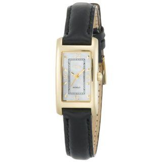 INDIGLO� Black Leather Strap Dress Watch Watches