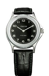 Jowissa Mens J4.010.M Genua Slim Black Dial Leather Watch Watches