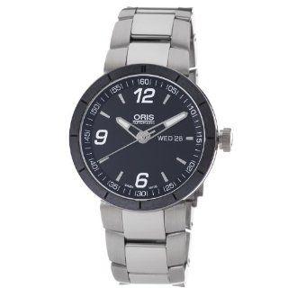 Oris Mens 73576514174MB TT1 Black Day Date Dial Watch Watches