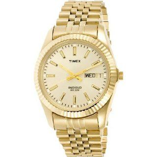 Timex Mens T32827 Classic Gold Tone Stainless Steel Dress Watch