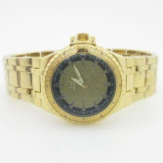 Techno Master Mens Yellow Gold Diamond Watch Watches