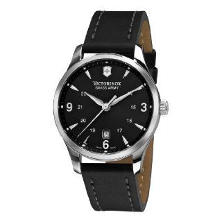 Victorinox Swiss Army Mens 241474 Alliance Black Dial and Strap Watch