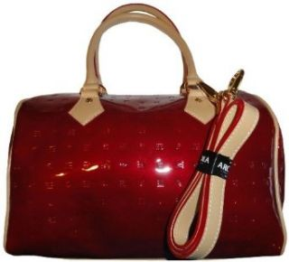 Womens Arcadia Leather Purse Handbag Onion Red/Natural