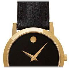 Movado Womens 605655 Museum Classic Swiss Quartz Leather Strap Watch