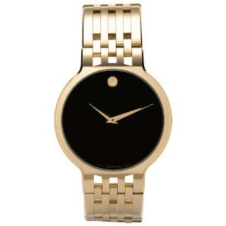 Movado Mens 606068 Esperanza Gold Plated Stainless Steel Watch