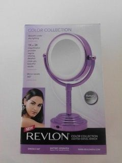 revlon tri fold lighted make up vanity mirror. Black Bedroom Furniture Sets. Home Design Ideas