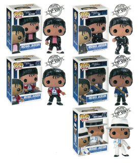 Funko 5 MICHAEL JACKSON 3.75 POP FIGURES BillieJn Beat It Smooth Bad