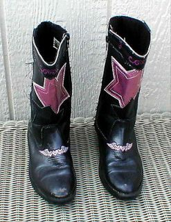 Girls Pre School size 13 Hannah Montana Disney Western Cowboy Boots