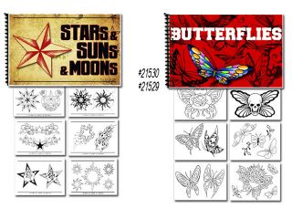 Tattoo Flash Art Books Stars Sun Moon and Butterflies