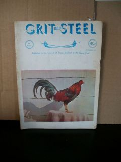 October 1962 Grit and Steel Gamefowl Magazine Good Condition