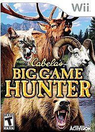 Cabelas Big Game Hunter Nintendo Wii original version 2007