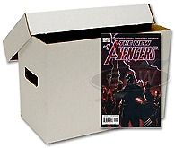 One New BCW Short Cardboard Comic Book Storage Box   holds 150 175