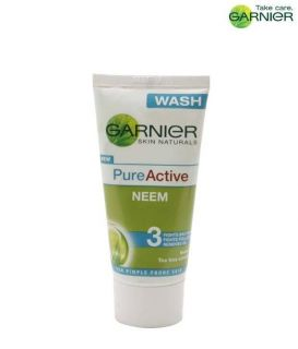 Garnier Pure Active Neem Face Wash 50ml for pimple pron skin fights