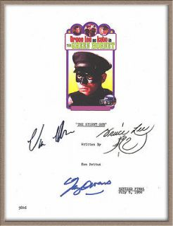 BRUCE LEE VAN WILLIAMS GARY OWENS SIGNED THE GREEN HORNET PILOT TV