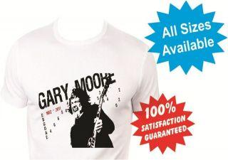gary moore thin lizzy Mens T Shirt New White Custom Print Tee