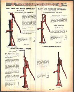 1923 AD Red Jacket Water Windmill Top Lift Pump Color Advertising