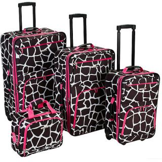 Rockland Luggage Fashion 4 Piece Expandable Luggage Set, Multiple