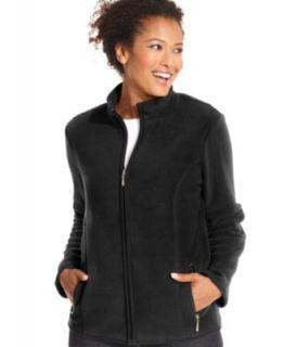 Karen Scott Sweater, Long Sleeve Zip Up