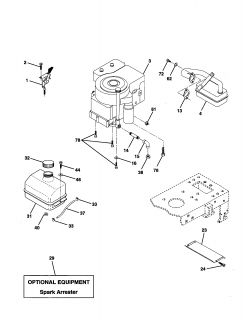 Model 917272242 Sears Craftsman 20 Hp Lawn Tractor Owners Manual On on craftsman lawn mower parts 917