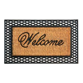 Ver Style Selections 23 3/4 x 39 Embossed Welcome Espresso Door Mat