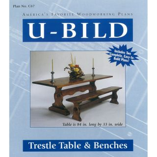 Shop U Bild Trestle Table and Benches Woodworking Plan at Lowes