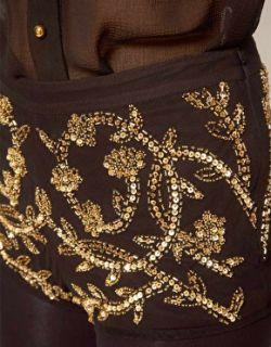 ASOS  Minishorts con adorno floral de ASOS PREMIUM en ASOS