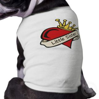 Little Sister t shirt and gifts with a cool heart tattoo design. Also
