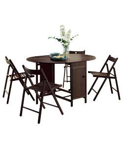 Buy Butterfly Set Oval Dining Table and 4 Chairs   Chocolate at Argos