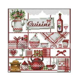 69 creative alphabets book dmc booklet 70 designs counted for Cross stitch kitchen designs