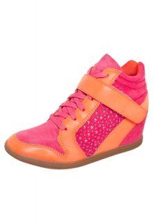 Sneaker Lillys Closet Brilho Rosa e Laranja   Compre Agora  Dafiti
