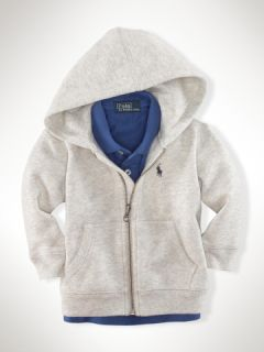 Full Zip Fleece Hoodie   Infant Boys Sweatshirts & Tees   RalphLauren