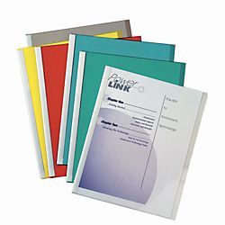 Line Report Covers With Binding Bars 8 12 x 11 Assorted Colors Box