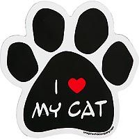 Imagine This I Love My Cat Paw Shaped Car Magnet customer
