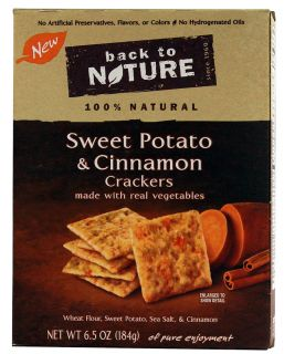 Back To Nature Sweet Potato and Cinnamon Crackers    6.5 oz   Vitacost