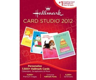 Buy Hallmark Card Studio 2012, make your own greeting cards, projects