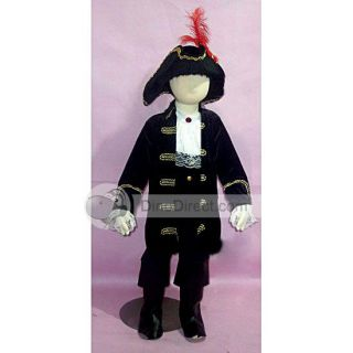 Wholesale Lovely Halloween Suit Pirate Kids Cosplay Costume