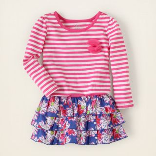baby girl   dresses   striped tiered dress  Childrens Clothing