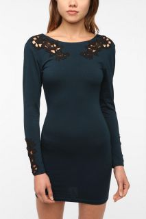 Motel Gina Lace Cutout Bodycon Dress   Urban Outfitters