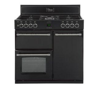 Buy BELLING Classic 90DFT Dual Fuel Range Cooker   Black  Free