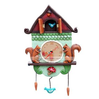 Wholesale Cartoon Squirrel Pattern Home Decoration Parlour Wall Clock