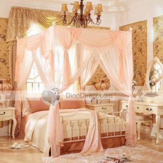 Wholesale Girls Flower Pleat 4 Poster Bed Canopy & Bed Poster One Set