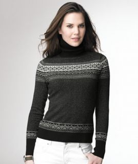 Cashmere Fair Isle Turtleneck SWEATERS   at L.L.Bean
