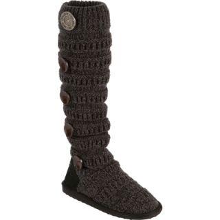 Muk Luks Womens Miranda Marled Texture Striped Boots   Ebony  Meijer