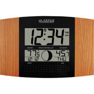 La Crosse Technology WS 8117U IT OAK Atomic Digital Wall Clock