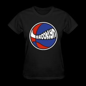 Brooklyn Nets Basketball Girls Womens T Shirt  Crowne Apparel