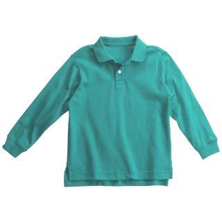Interlock Cotton Polo Shirt   Long Sleeve (For Boys)   Save 61%