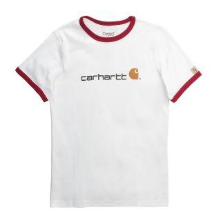 Carhartt Ringer Logo T Shirt   Short Sleeve (For Women) in Crimson